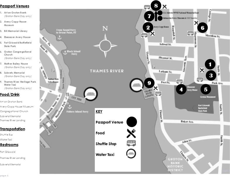Groton Bank Day map